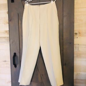 Talbots Classic Fit Trousers 14W cream colored